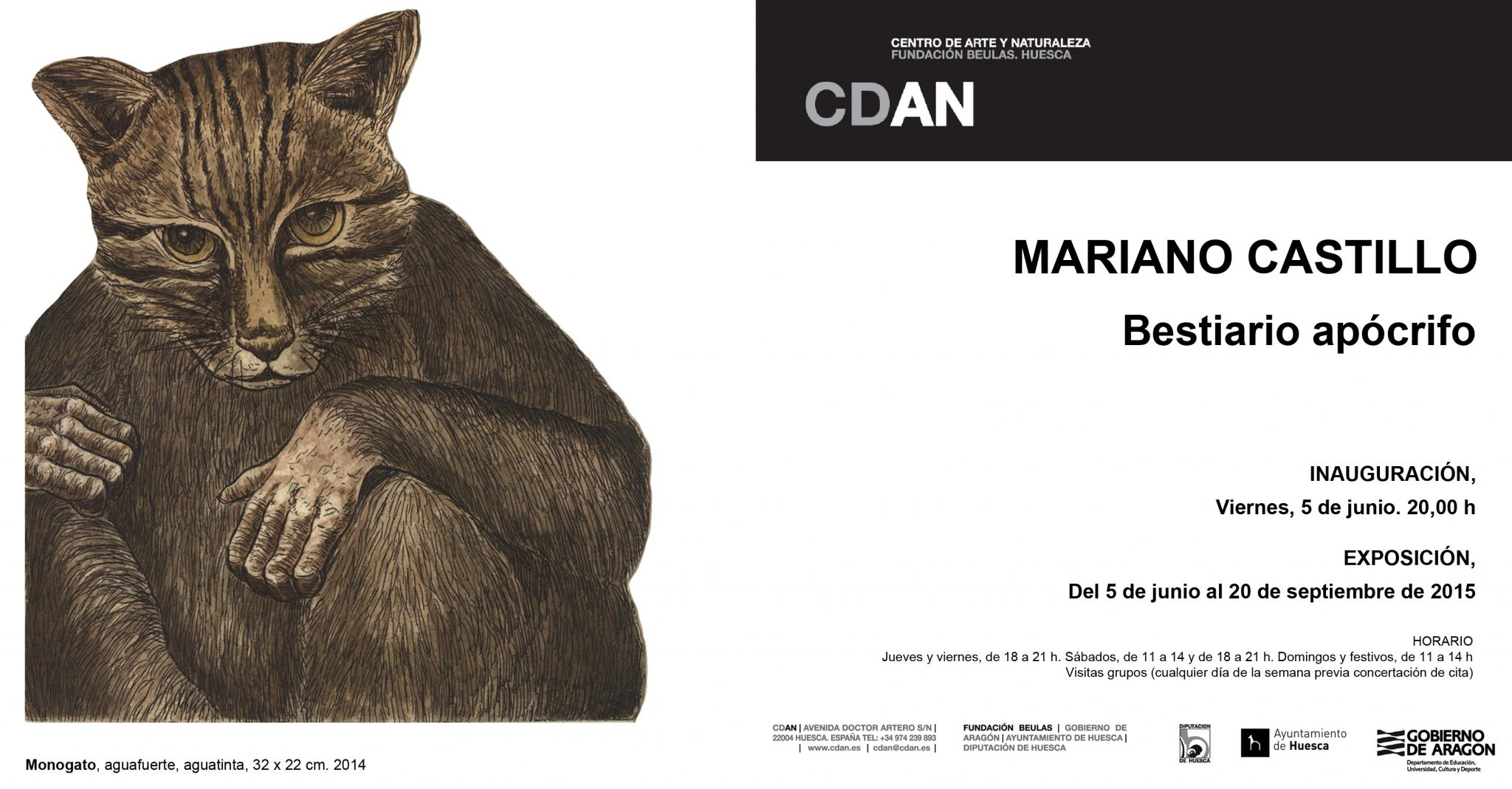 INVITACION  EXPOSICION BESTIARIO APOCRIFO - MARIANO CASTILLO - WEB