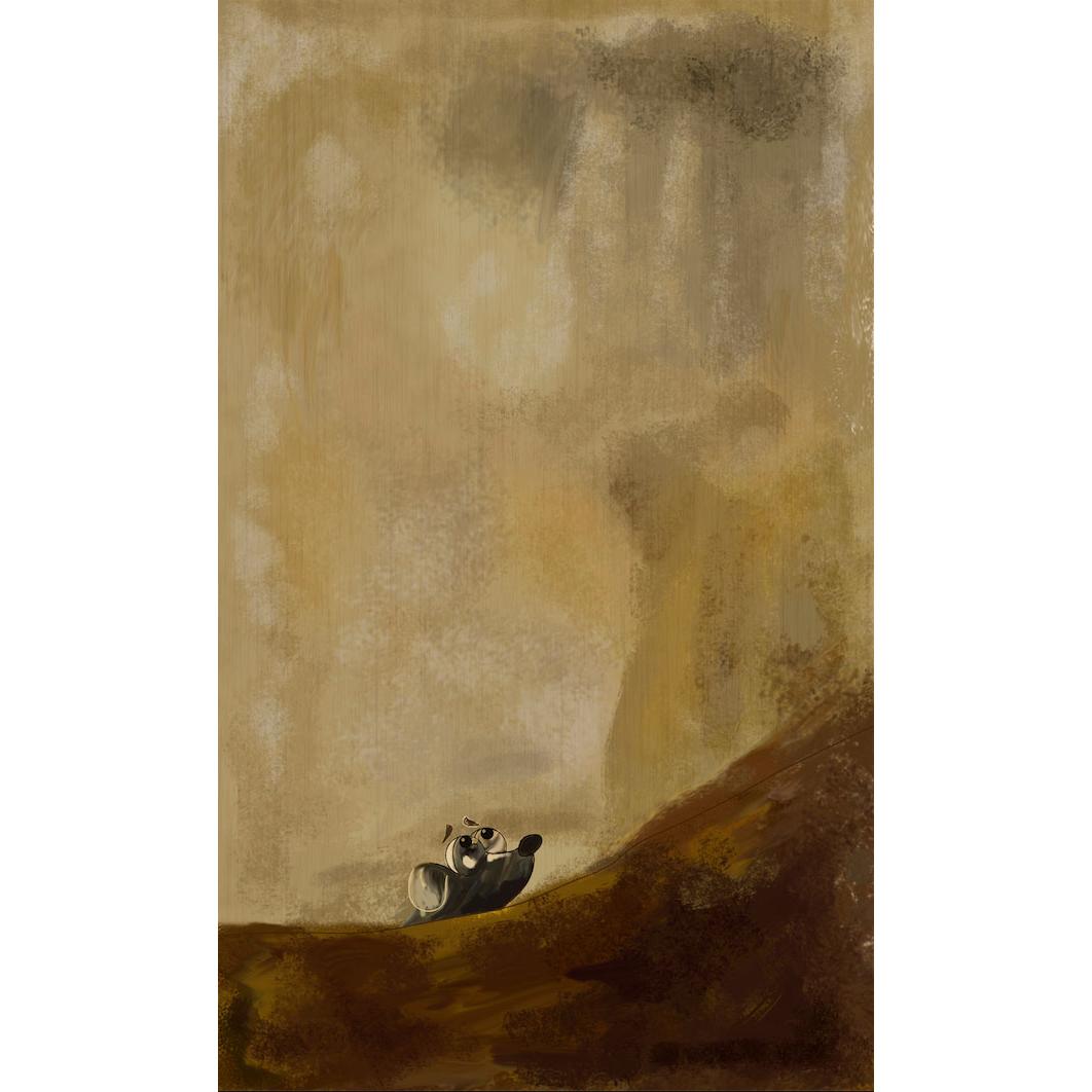 """""""Perro semihundido"""" de Agustín Lorés. Adaptación reimaginada de la obra de Goya"""