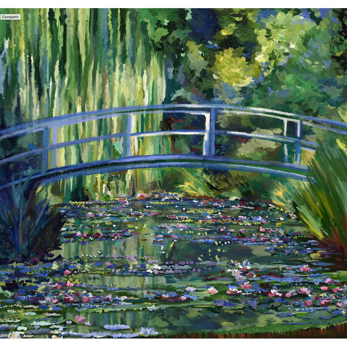 """Nenúfares"" de Agustín Lorés. Adaptación reimaginada de la obra de Monet"