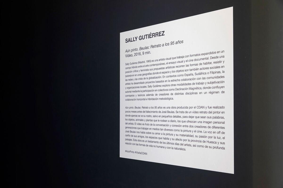 SALLY GUTIÉRREZ. Aún pinto. Beulas: retrato a los 95 años