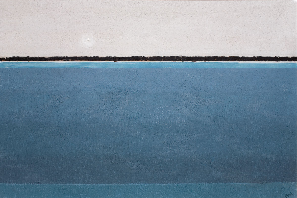 José Beulas, Carrascal de Pebredo, 1989, óleo sobre tela. Colección Ajuntament de Santa Coloma de Farners.